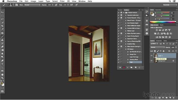 Building final action in Photoshop for the bath shot: Enhancing Interior Architectural Photos