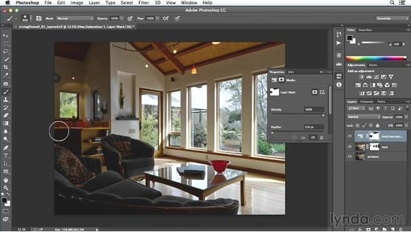 Finishing and final output for the small living-room image: Enhancing Interior Architectural Photos