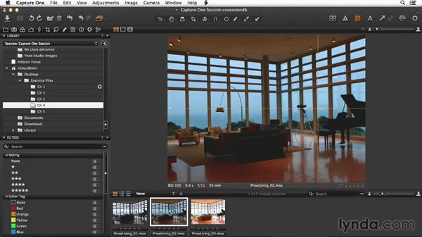 Making a select in the living-space image: Enhancing Interior Architectural Photos