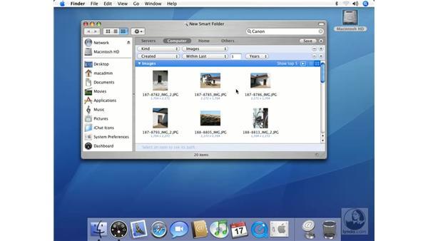 Menu Items in the Finder: Mac OS X 10.4 Tiger Essential Training