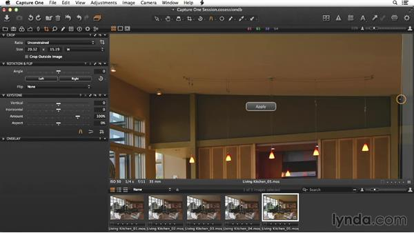 Adjusting the selects for the stack: Enhancing Interior Architectural Photos