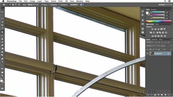 Adjusting the details of the windows: Enhancing Interior Architectural Photos