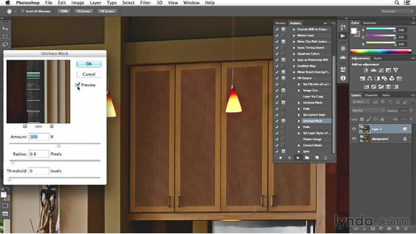 Final actions and resizing on the kitchen image: Enhancing Interior Architectural Photos