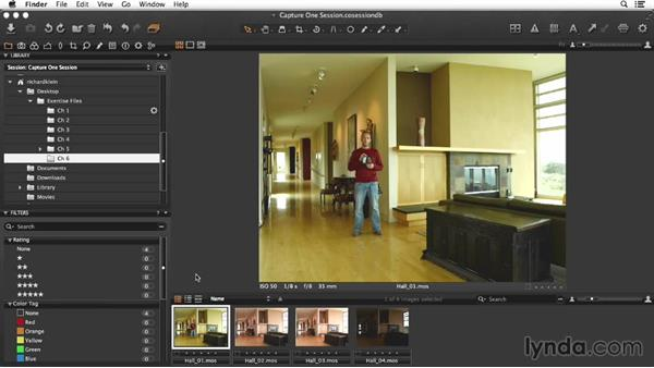 Overview of the hallway shot: Enhancing Interior Architectural Photos
