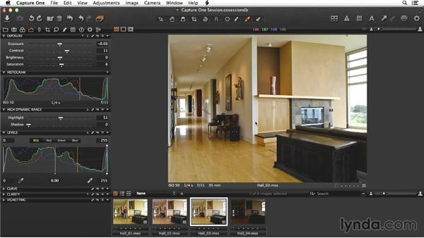 Raw processing the hallway images in Capture One: Enhancing Interior Architectural Photos