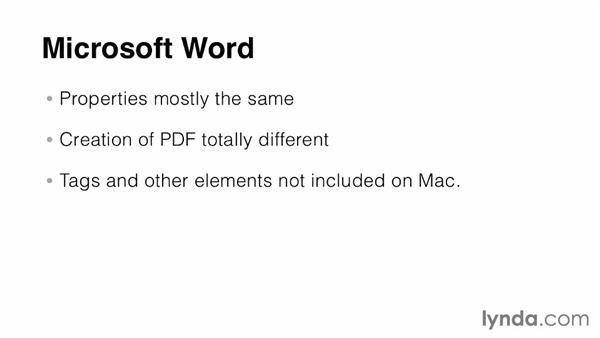 Platform considerations: Creating Accessible PDFs (2014)