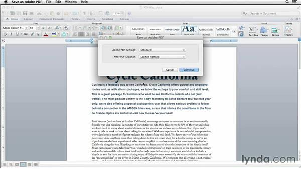 Generating a PDF file from Word on a Mac: Creating Accessible PDFs (2014)
