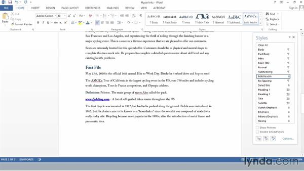 Adding hyperlinks in Word: Creating Accessible PDFs (2014)