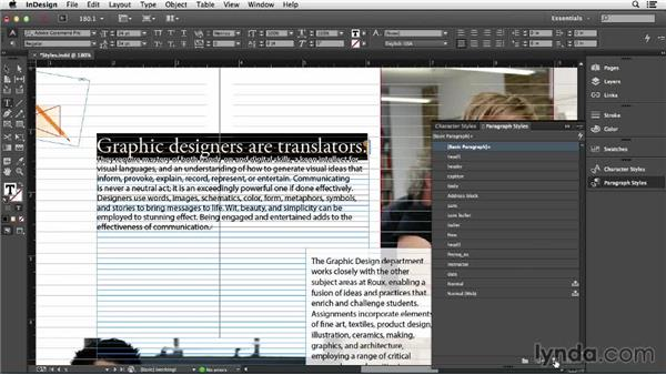 Understanding InDesign styles: Creating Accessible PDFs (2014)