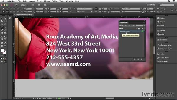 Adding hyperlinks in InDesign: Creating Accessible PDFs (2014)