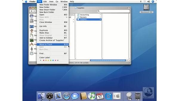 Deleting Items: Mac OS X 10.4 Tiger Essential Training