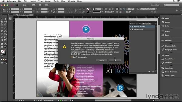 Creating bookmarks in InDesign: Creating Accessible PDFs (2014)