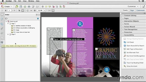 Checking and fine-tuning the PDF after conversion from InDesign: Creating Accessible PDFs (2014)