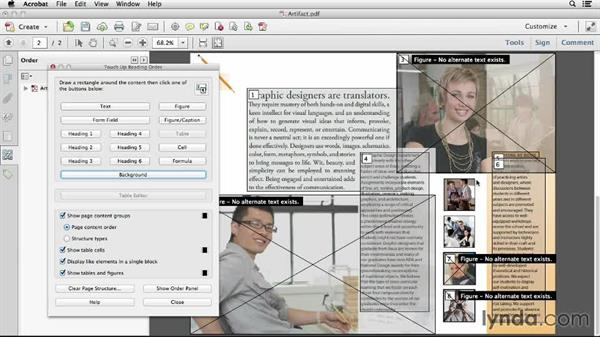 Artifacting elements: Creating Accessible PDFs (2014)