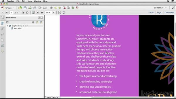 Adding bookmarks in Acrobat: Creating Accessible PDFs (2014)