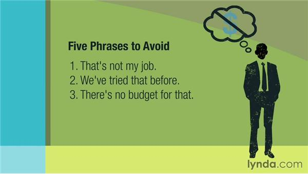 5 Phrases to Avoid: Management Tips