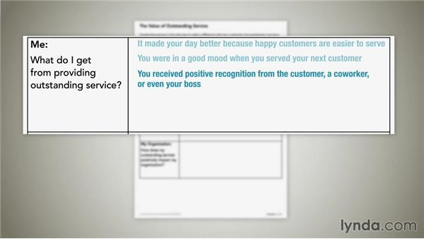 Determining the value of outstanding customer service: Customer Service Fundamentals