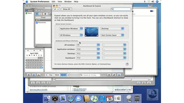 Dashboard and Exposé: Mac OS X 10.4 Tiger Essential Training
