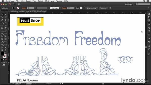 Font choices: Type Project: Art Nouveau Poster