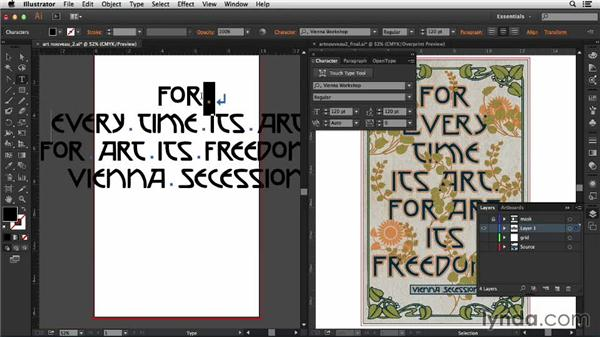 Setting the type: Type Project: Art Nouveau Poster