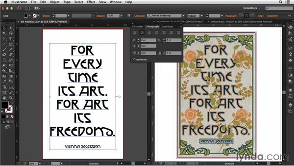 Finessing the type: Type Project: Art Nouveau Poster
