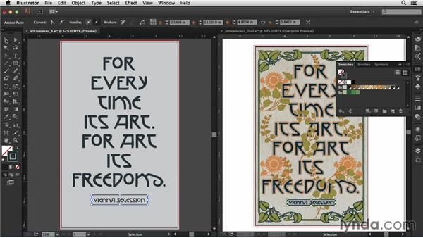 Adding multiple strokes to the type: Type Project: Art Nouveau Poster