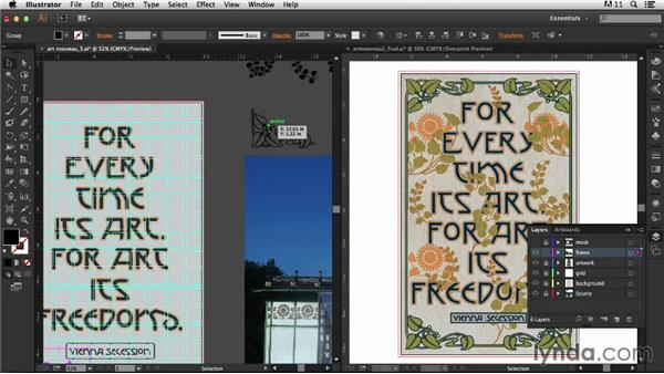Creating the decorative frame: Part one: Type Project: Art Nouveau Poster