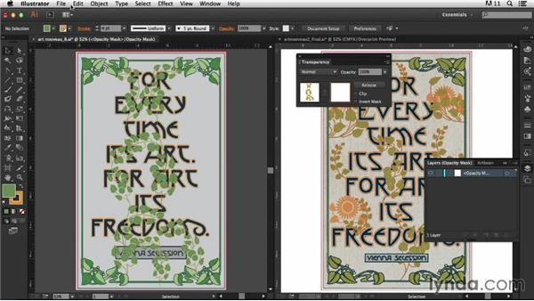 Adding the vines: Part two: Type Project: Art Nouveau Poster