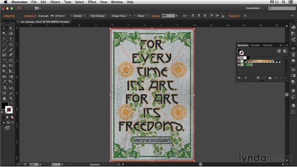 Adding texture: Type Project: Art Nouveau Poster