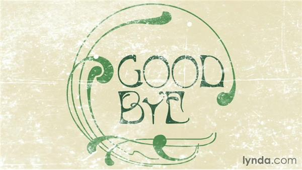 Goodbye: Type Project: Art Nouveau Poster