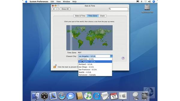 Date and Time: Mac OS X 10.4 Tiger Essential Training
