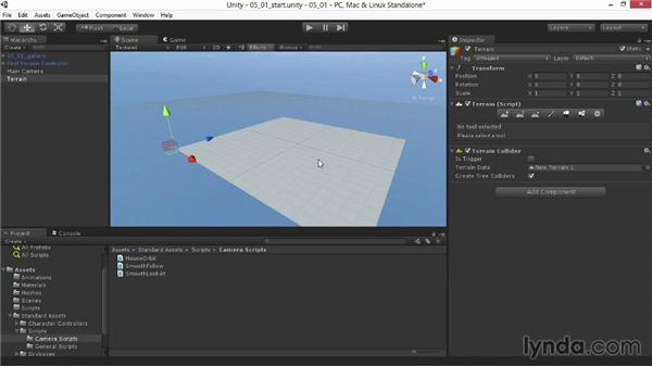Creating the terrain geometry: Unity 4.3 Essential Training