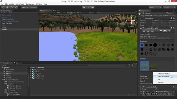 Painting detail meshes: Unity 4.3 Essential Training