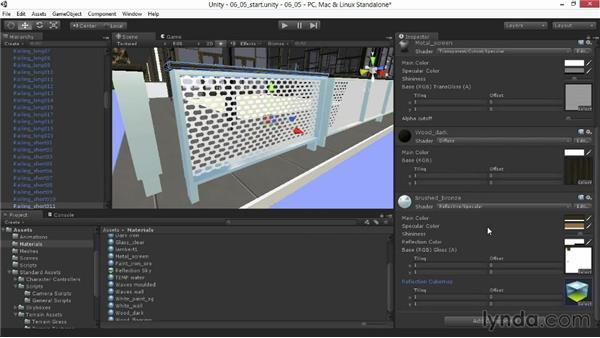 Adding reflections to materials: Unity 4.3 Essential Training