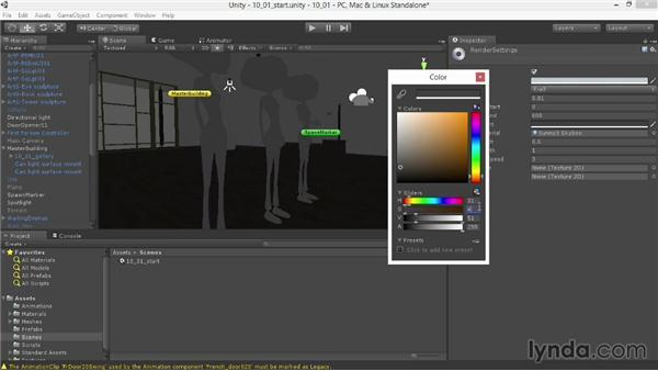 Customizing ambient light: Unity 4.3 Essential Training