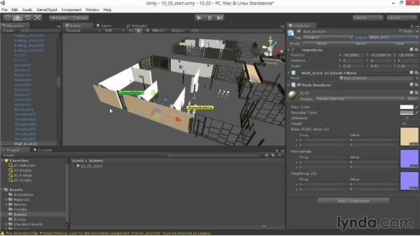 Using layers and tags for lighting: Unity 4.3 Essential Training