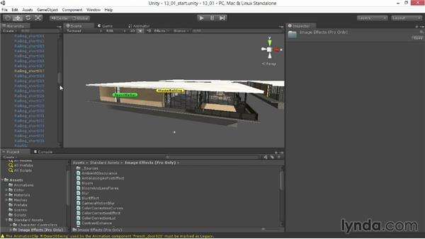 Creating light shafts and sunbeams: Unity 4.3 Essential Training