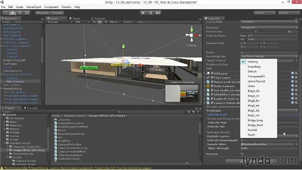 Applying motion blur: Unity 4.3 Essential Training