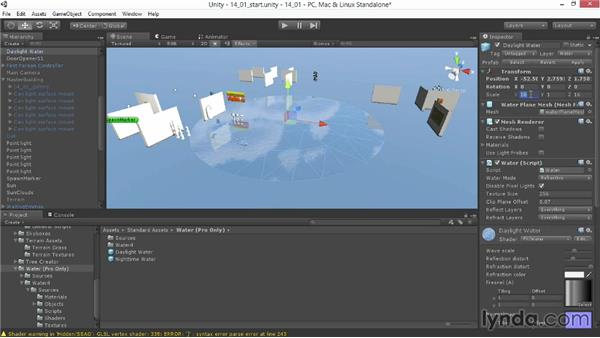 Exploring water effects: Unity 4.3 Essential Training