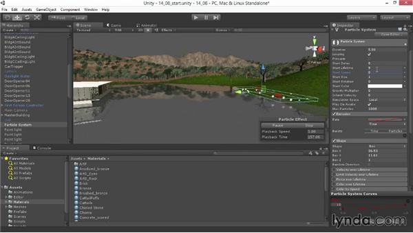 Adjusting particle systems: Unity 4.3 Essential Training