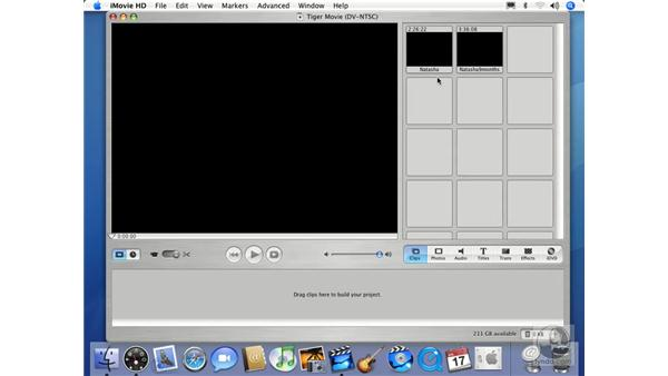 Introduction to iMovie: Mac OS X 10.4 Tiger Essential Training
