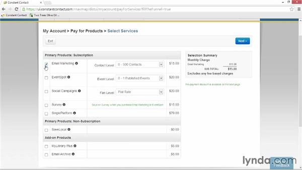 Creating a Constant Contact account: Up and Running with Constant Contact