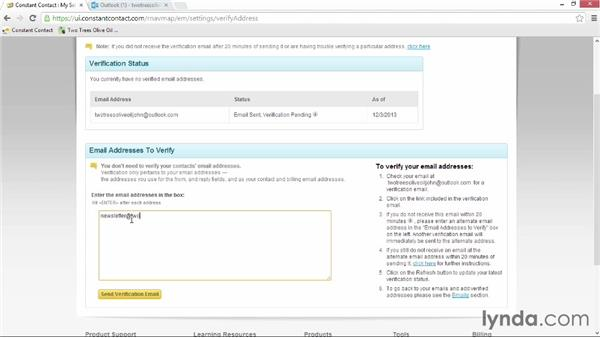 Verifying email addresses: Up and Running with Constant Contact