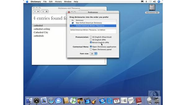 New Dictionary Application: Mac OS X 10.4 Tiger Essential Training
