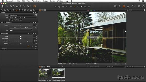 Adjusting details of the boardwalk image in raw: Enhancing Exterior Architectural Photos