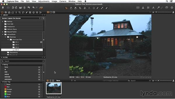 Overview of the exterior evening image: Enhancing Exterior Architectural Photos