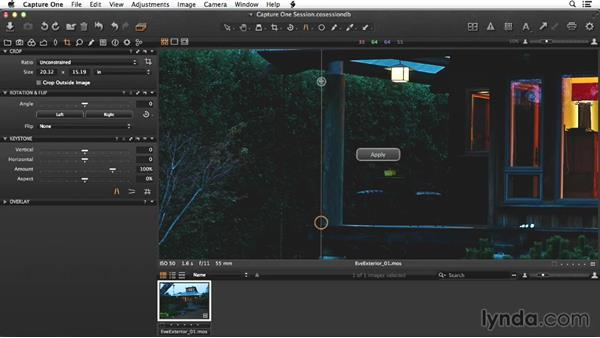 Making a select in the raw processor: Enhancing Exterior Architectural Photos