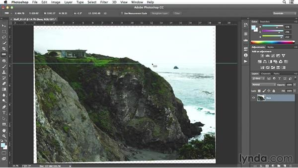 Adjusting the horizon on the bluff shot: Enhancing Exterior Architectural Photos