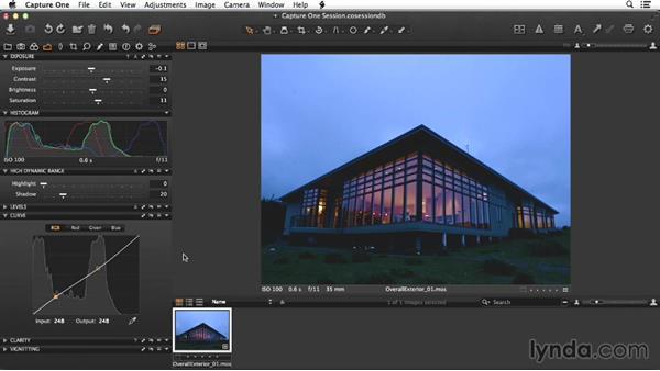 Adjusting the raw exterior shot: Enhancing Exterior Architectural Photos
