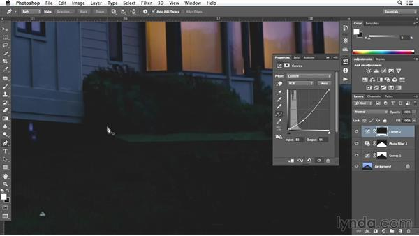 Adjusting the facade on the exterior shot: Enhancing Exterior Architectural Photos